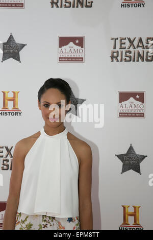 San Antonio, Texas, USA. 18th May, 2015. Actress Cynthia Addai-Robinson at preview of the History Channel viewing - Stock Photo