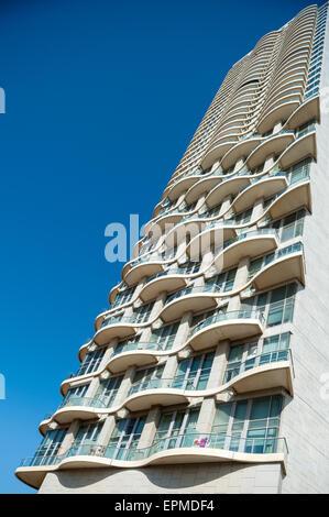 Israel, Tel Aviv, Neve Tzedek Tower - Stock Photo