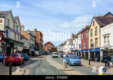 High Street in Denbigh, Denbighshire, Wales, UK - Stock Photo