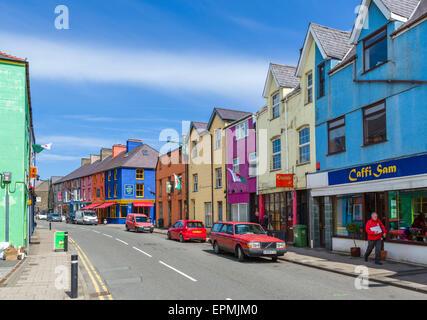 High Street, Llanberis, Snowdonia, Gwynedd, Wales, UK - Stock Photo
