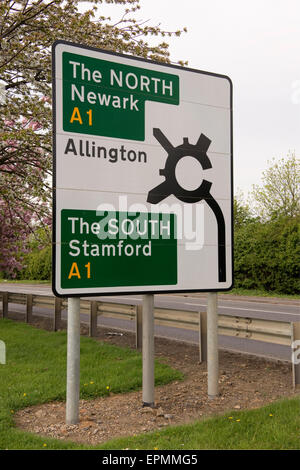 North/South Motorway road sign - Stock Photo
