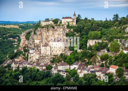 valley at Rocamadour in the Dordogne of the Midi Pyrenees, France, Europe - Stock Photo