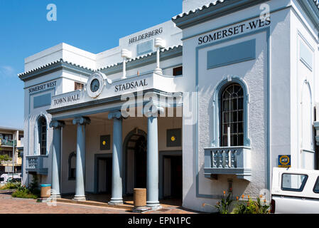 Town Hall, Main Street, Somerset West, Helderberg District, Cape Peninsula, Western Cape Province, Republic of South - Stock Photo