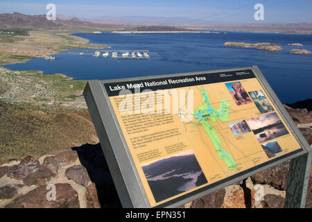 The ongoing drought in the western United States has lowered the water level of Lake Mead, the largest man-made - Stock Photo