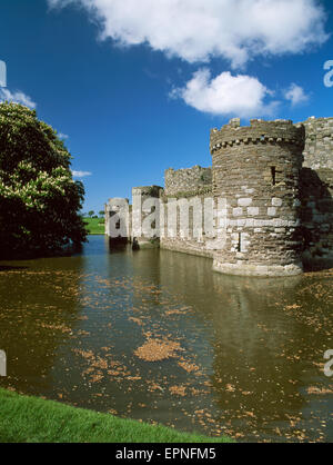 The Outer Curtain Wall And Moat Of Beaumaris Castle, The Last And ...