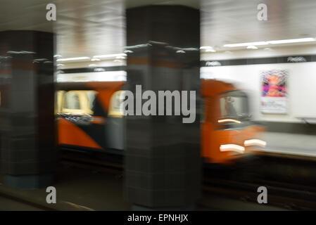 Partick Subway Station Glasgow Scotland UK - Stock Photo