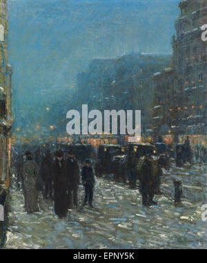 Childe Hassam  Broadway and 42nd Street - Stock Photo