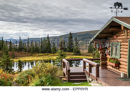 ... Cabin At Camp Denali In Denali National Park   Alaska (USA)   Stock  Photo