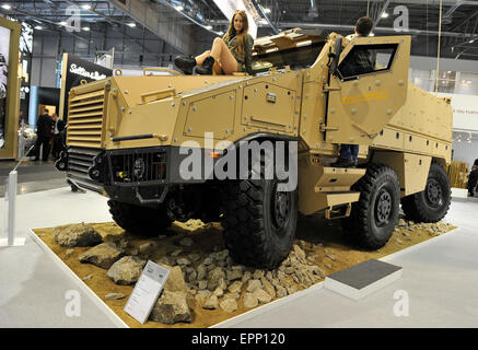 Brno, Czech Republic. 20th May, 2015. TITUS Nexter Tactical Infantry Transport & Utility System 6x6 Armoured vehicle - Stock Photo
