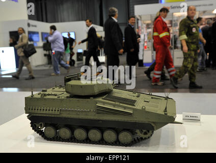 Brno, Czech Republic. 20th May, 2015. Infantry Fighting Vehicle SAKAL model was presented at the international trade - Stock Photo