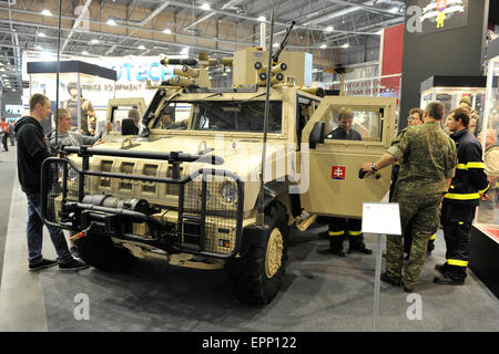 Brno, Czech Republic. 20th May, 2015. Iveco 4x4 Armoured vehicle was presented at the international trade fair of - Stock Photo