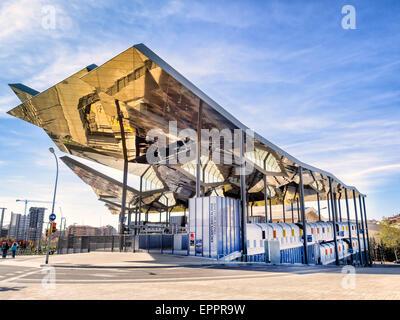 Els Encants Vells flea market with mirror ceiling in Barcelona Spain - Stock Photo