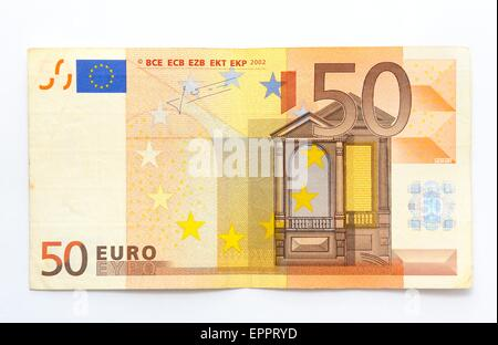 50 euro note denomination. - Stock Photo