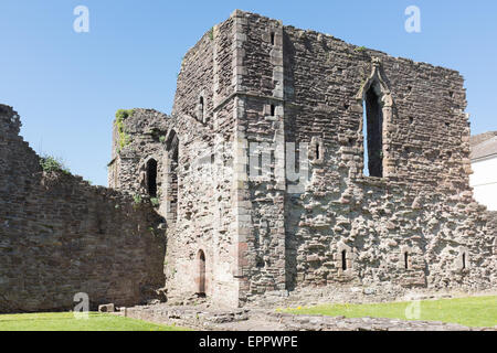 The ruins of Monmouth Castle, a grade 1 listed building and scheduled monument - Stock Photo