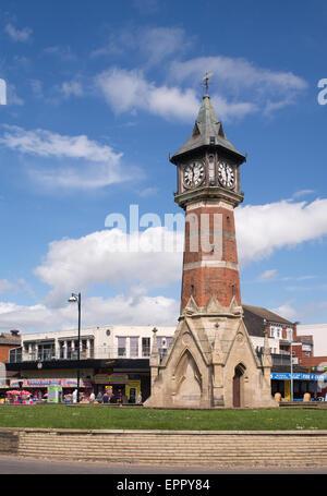 Diamond Jubilee Clock Tower, Skegness, Lincolnshire, England, UK - Stock Photo