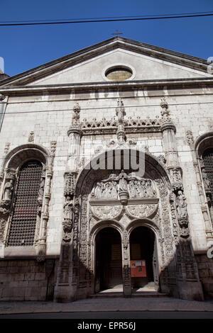 Church of Nossa Senhora da Conceição Velha on Rua da Alfandega in Lisbon - Portugal - Stock Photo