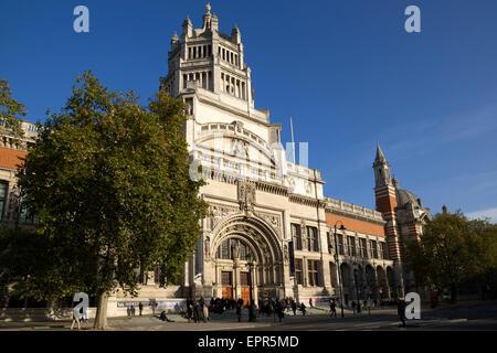 Main entrance, Victoria and Albert Museum, South Kensington, London, England, UK - Stock Photo