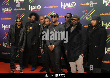 Nickelodeon HALO Awards at Pier 36 in New York City  Featuring: (L-R) Musicians Tuba Gooding Jr.,Questlove,James - Stock Photo
