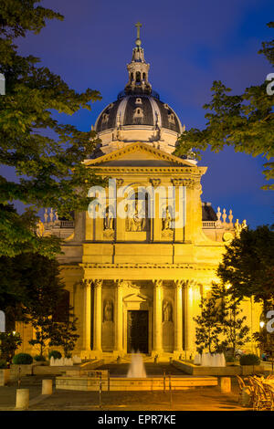 College of Sorbonne, originally a theological school founded in 1253, now a public university, Paris, France - Stock Photo