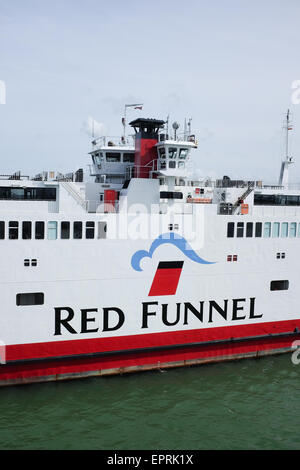 A Red Funnel ferry that sails between Southampton and Cowes on the Isle of Wight, U.K. - Stock Photo