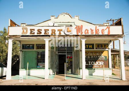 General Store in town of Daggett in San Bernadino County California on Route 66 USA - Stock Photo