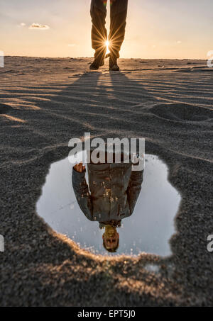 Reflection of a man. - Stock Photo