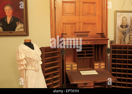 Museum exhibit in Old State Capitol, Baton Rouge, Louisiana, USA - Stock Photo