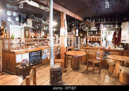El Viejo Almacen del Foyel - Restaurant and Museum of Mapuche life - on La Ruta 40 near El Bolson, Neuquen Province, - Stock Photo