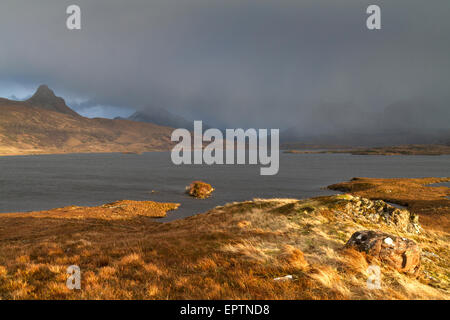 Coigach mountains, Wester Ross - Stock Photo