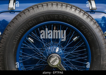 Spare wheel for an antique Talbot car - Stock Photo