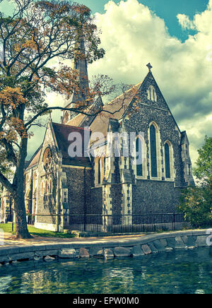 St. Alban's Church, locally often referred as the English Church, is an Anglican church in Copenhagen, Denmark. - Stock Photo