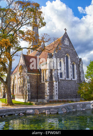 St. Alban's Church, locally often referred to simply as the English Church, is an Anglican church in Copenhagen, - Stock Photo