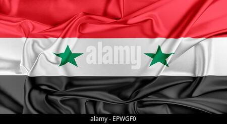 Flag of Syria - Stock Photo
