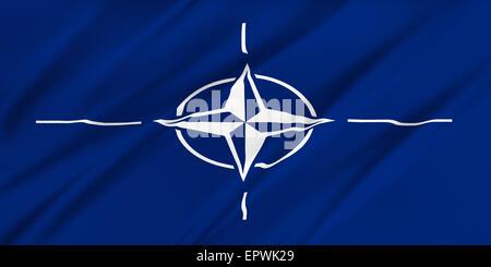 NATO flag. - Stock Photo