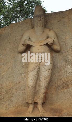 UNESCO World Heritage Site, the ancient city of Polonnaruwa, Sri Lanka, Asia -  Parakramabahu Statue site - Stock Photo