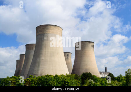 The cooling towers of E.ON UK controlled Ratcliffe-On-Soar power station, near Nottingham.