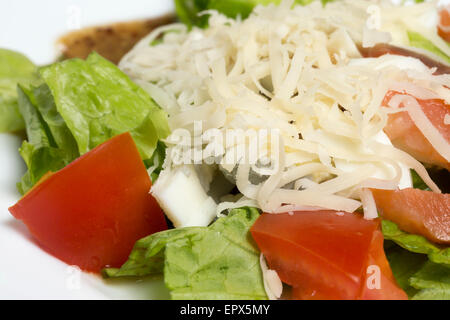 Close up of salad with vegetables and fish - Stock Photo