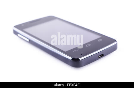 Smartphone on a white background - Stock Photo