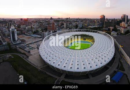 Aerial view of Olympic Arena in Kiev, Ukraine - Stock Photo