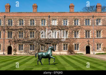 Jesus College is a college of the University of Cambridge - Stock Photo
