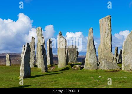 The Callanish Stones, Isle of Lewis, Outer Hebrides, Scotland UK - Stock Photo