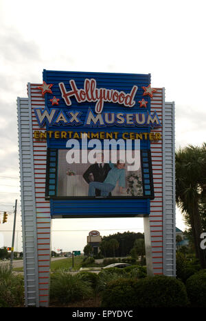 Hollywood Wax Museum Myrtle Beach SC USA - Stock Photo