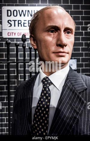 Vladimir Putin at Madame Tussauds London - Stock Photo