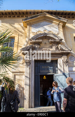 Basilica of Saint Clement ancient tourist attraction, Rome, Italy - Stock Photo