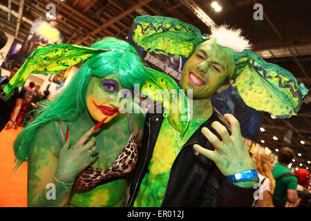London, UK. 23rd May 2015. Participants at MCM Comic Con, Excel, London 2015 where fans dressed as their favourite - Stock Photo