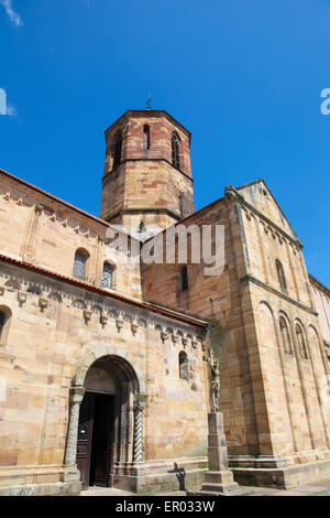 Saints-Pierre-et-Paul church in Rosheim, a village on the Romanesque route of Alsace, France. - Stock Photo