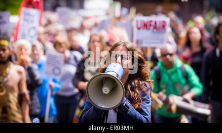 The Hauge, The Netherlands. 23rd May, 2015. On Saturday May 23rd 2015 around 100 people took part in the March Against - Stock Photo
