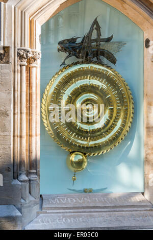 The Corpus Clock is a large sculptural clock on the outside of the Taylor Library at Corpus Christi College, Cambridge - Stock Photo