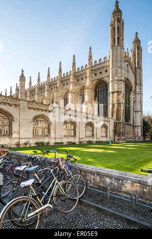 King's College is a college of the University of Cambridge, UK - Stock Photo