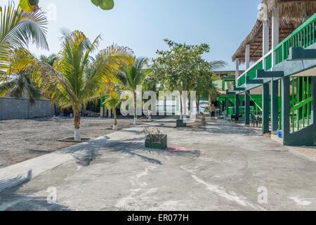 Hotel on the beach at El Hawaii Guatemala - Stock Photo